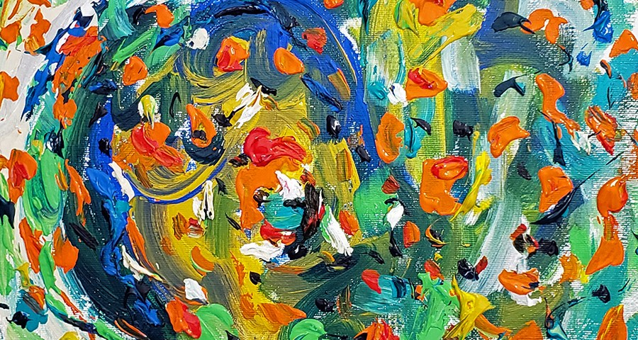 Abstract Art Painting 30 on Canvas (Wet Paint)