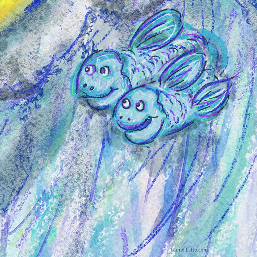 Surfing Silver Linings Narrative Art Illustration (Panel 3 Detail)