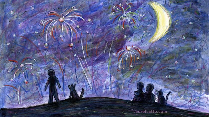 Fireworks Pastel Multimedia Art Illustration