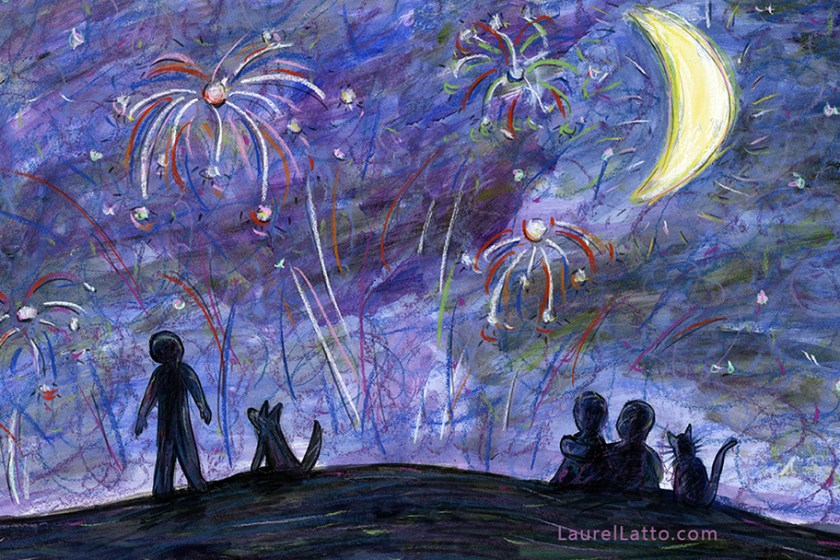 Fireworks Pastel Multimedia Art Illustration