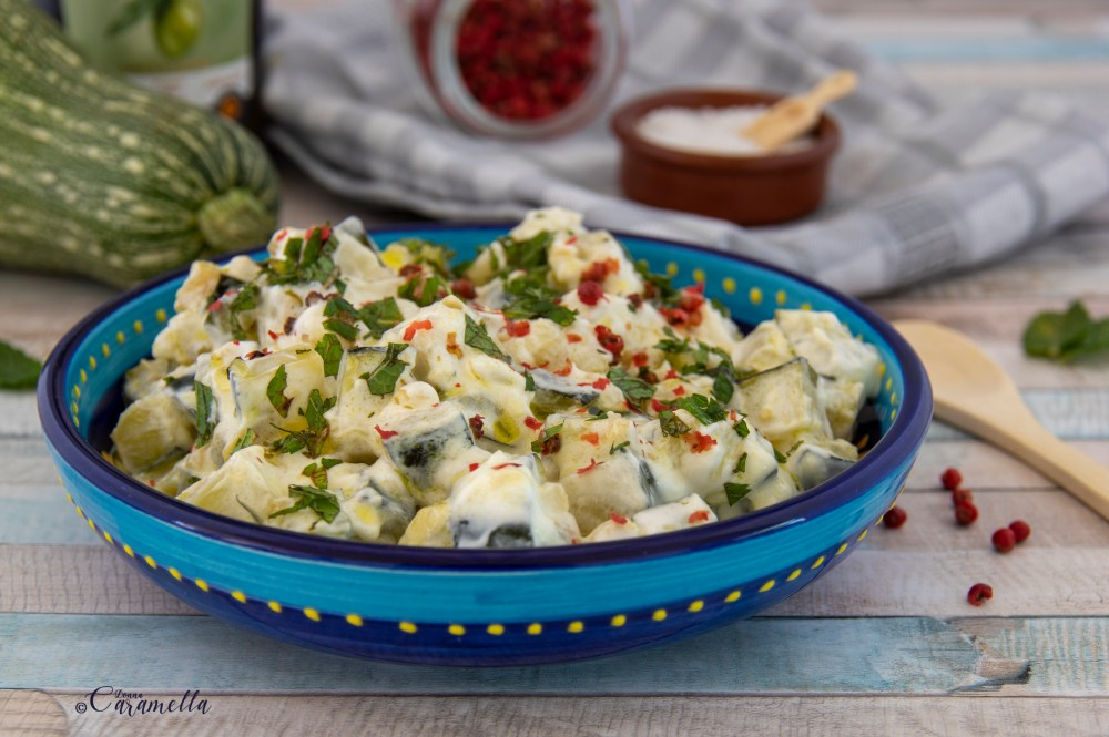 courgettes in yoghurt-knoflooksaus