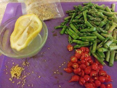 Prepped veggies