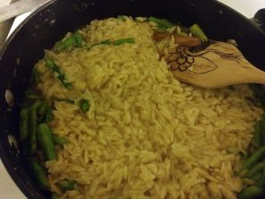 Risotto coming together