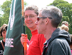 With incoming President Pete Murray at Tolpuddle 2009