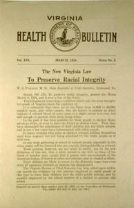 Virginia's Racial Integrity Act