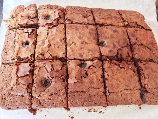 baked brownie