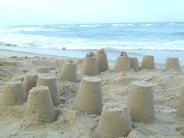 Buckets of sand