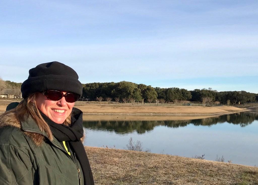 Donna Hoyack by a pond