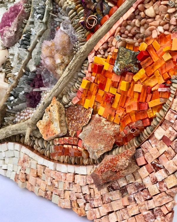 Orange and Pinks and Browns Mosaic by Donna Hoyack