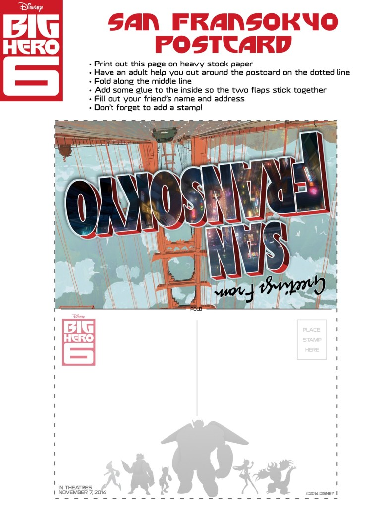Big Hero 6 Activity Sheets #BigHero6 #MeetBaymax #BigHero6Event #ABCTVEvent
