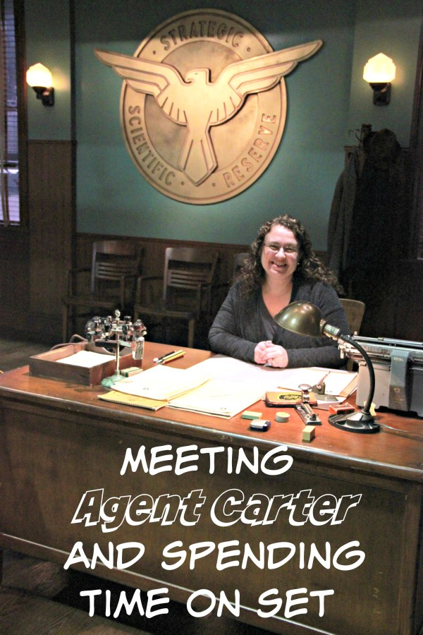 Meeting Agent Carter and Spending Time on Set