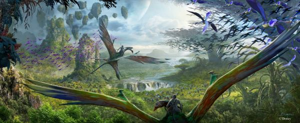 AVATAR Flight of Passage at Disney's Animal Kingdom -- This E-ticket attraction, the centerpiece of Pandora, allows guests to soar on a Banshee over a vast alien world. The spectacular flying experience will give guests a birds-eye view of the beauty and grandeur of the world of Pandora on an aerial rite of passage. (Disney Parks)