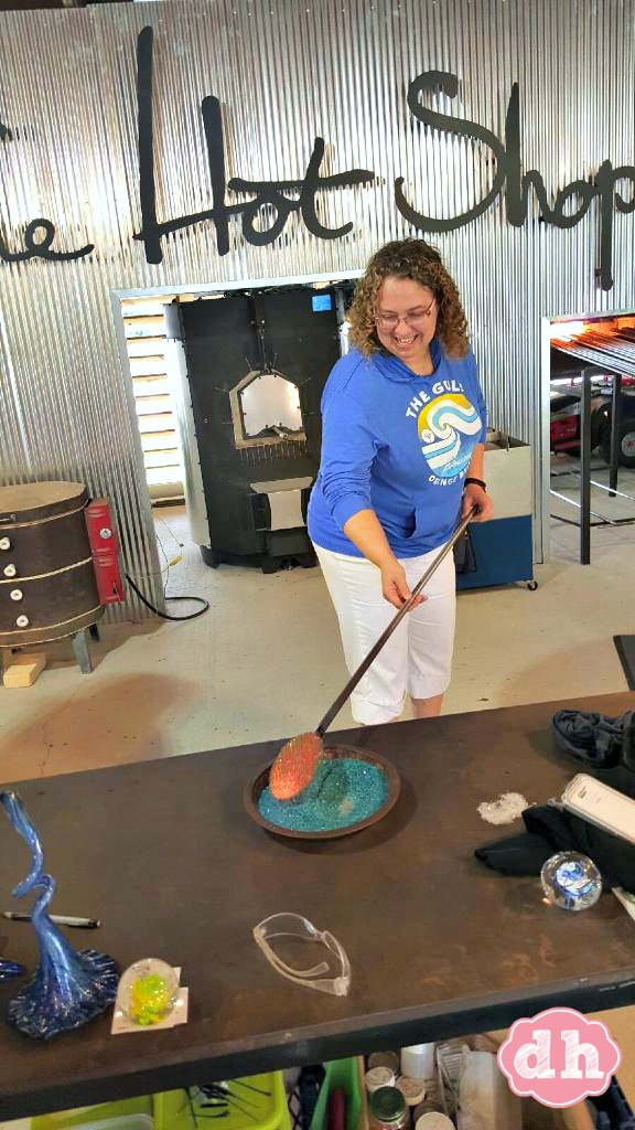 Playing with Glass at the Hot Shop in Orange Beach