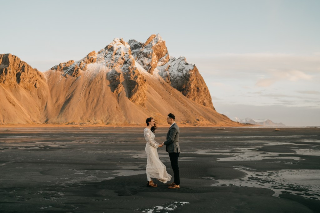 iceland elopement photos