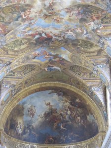The ceiling of the kIng's Chapel at Versailles in France. Photo by Donna L. Long, 2014. All rights reserved.