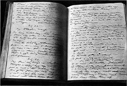 Pages from Henry David Thoreau's nature journal. Marble, Annie Russell [Public domain]