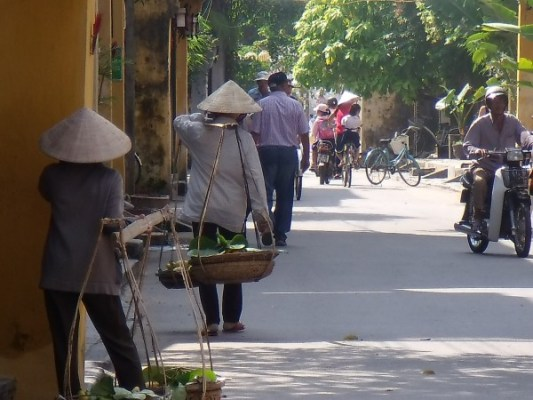 Fruit and Vegetable vendors on the streets of Cambodia