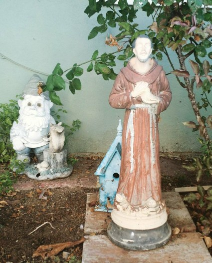 St. Francis and gnome