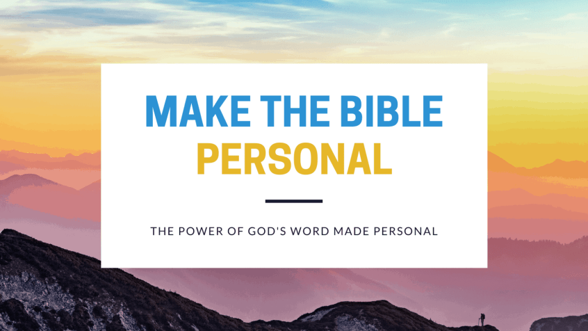 Make the Bible Personal