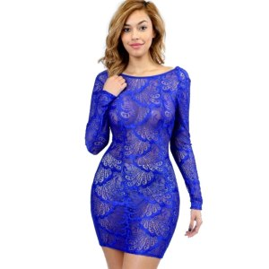 donnards.com funtime lace bodycon dress