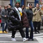 A$ap Rocky Warmth and Fashion Inspiration In An Oversized Puffer