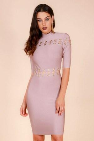 Sunia Lace Eyelet Bandage Dress donnards.com
