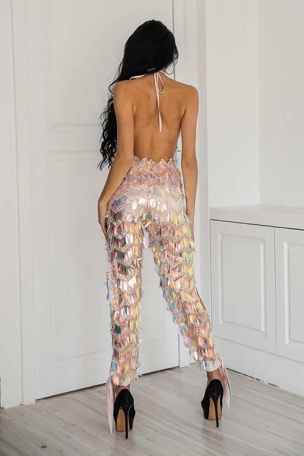 Summer Shimmery Sequin Jumpsuit Playsuit