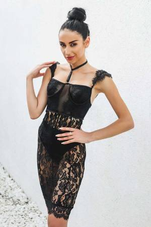 Lovely In Lace Dress Sheer Black Lace Dress