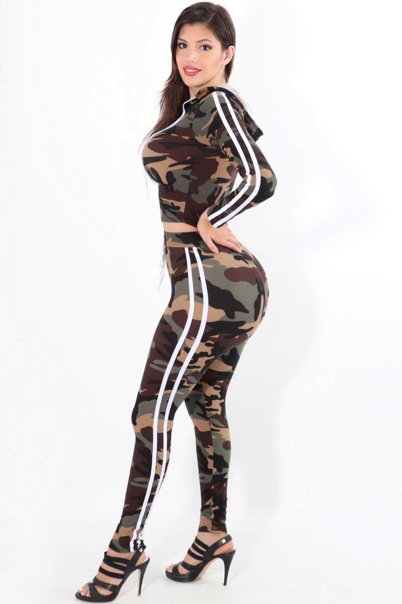 I'm A Soldier Camo 2PC Track Jacket & Pants Set