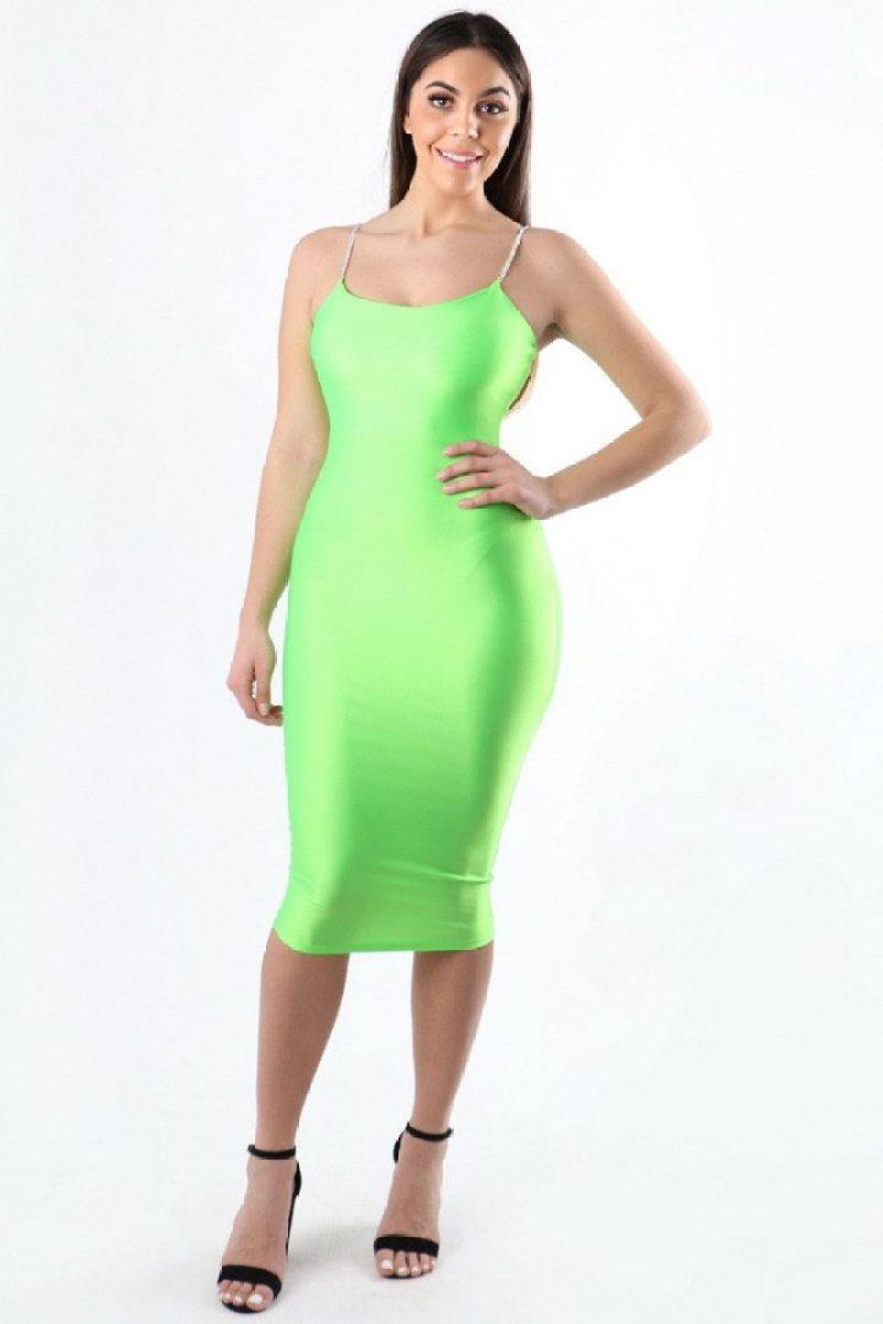 Oh So Bright Neon Green Bodycon Dress