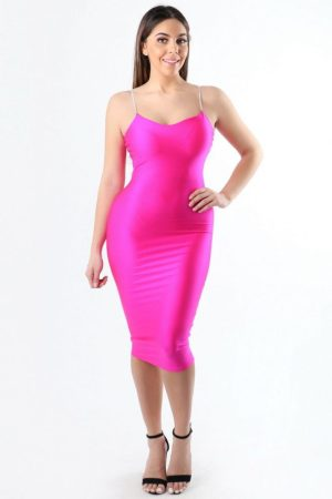 Oh So Bright Neon Pink Bodycon Dress