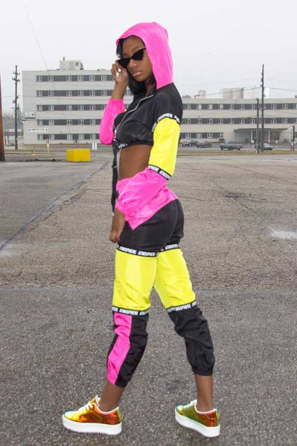 Atmosphere Breaker 2PC colorful Tracksuit