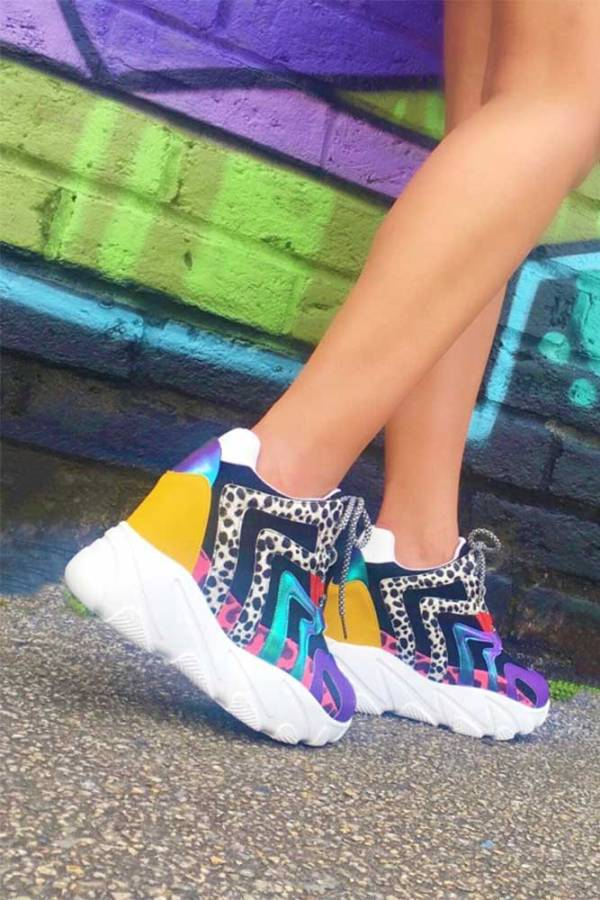 anthony weng logan-01 wedge platform sneaker multi