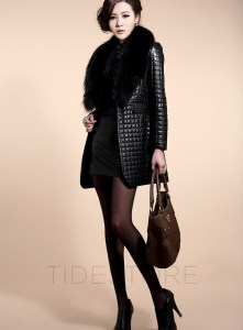Magnificent Long Sleeve Patchwork Faux Leather Jacket