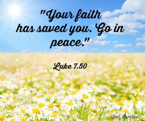 peace with God Luke 7 50