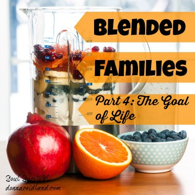 Blended Families Part 4: The Goal of Life - When blending a family the goal of life is always the same, not to get along, not to have our needs met, not to feel loved or appeciated, but to please God.