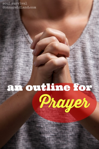 "An Outline for Prayer - Do you ever feel inadequate or frustrated with your prayer life? If so, you're not alone. It appears even the disciples wanted more when they said, ""Lord, teach us to pray."" In our New Testament reading we'll talk about Jesus' outline for prayer and how we can use it during our devotional time. We'll also talk about our motives for praying and reading God's Word."