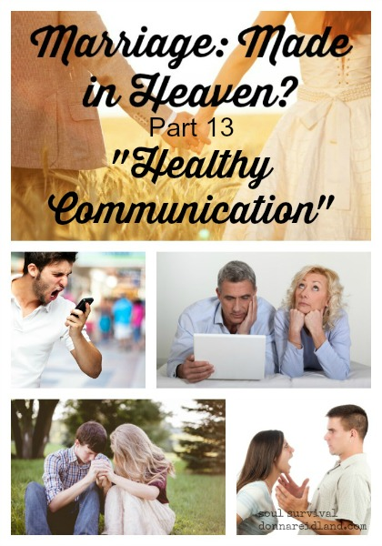"Marriage: Made in Heaven? Part 13 ""Healthy Communication"" - ""Communication is to a relationship what blood is to the human body. Communication nourishes and sustains a relationship. Remove it, and you no longer have a relationship."" The Bible has much to say about the importance of healthy communication and the results of bad communication. James said the tongue can be ""set on fire by hell."" So, how can couples grow and become more intentional when it comes to healthy communication?"