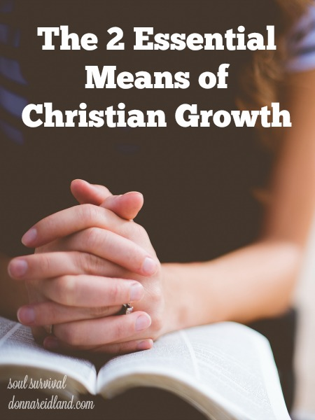 The 2 Essential Means of Christian Growth - I've noticed that most people either find prayer a natural part of their Christian life or thoroughly enjoy studying the Bible. But rarely, have a met someone who says both come easily and naturally to them. Yet, it's the two of them working together that are God's essential means of Christian growth.