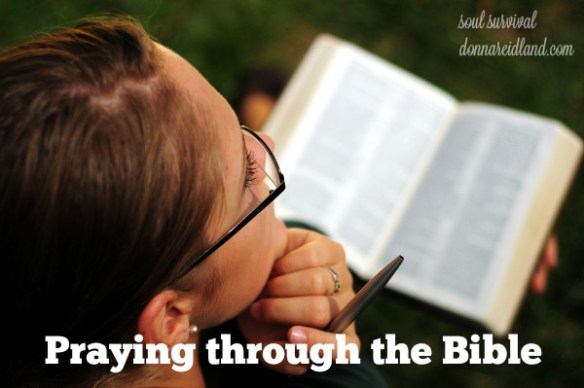 Praying through the Bible