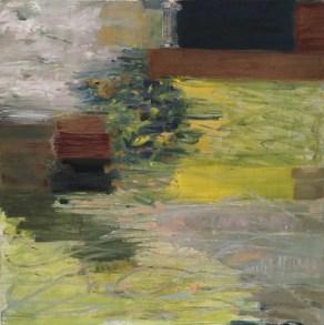 """""""Meadow Walk,"""" Oil on Linen, 18″x18″"""