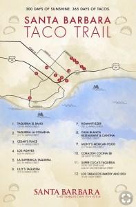 map of Taco trail Santa barbara