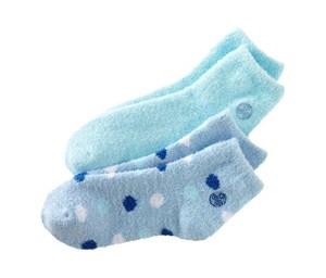 blue socks with aloe infused