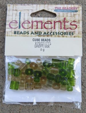 Green Mix Cube Beads