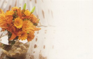 Floral Enclosure Card - fall bouquet