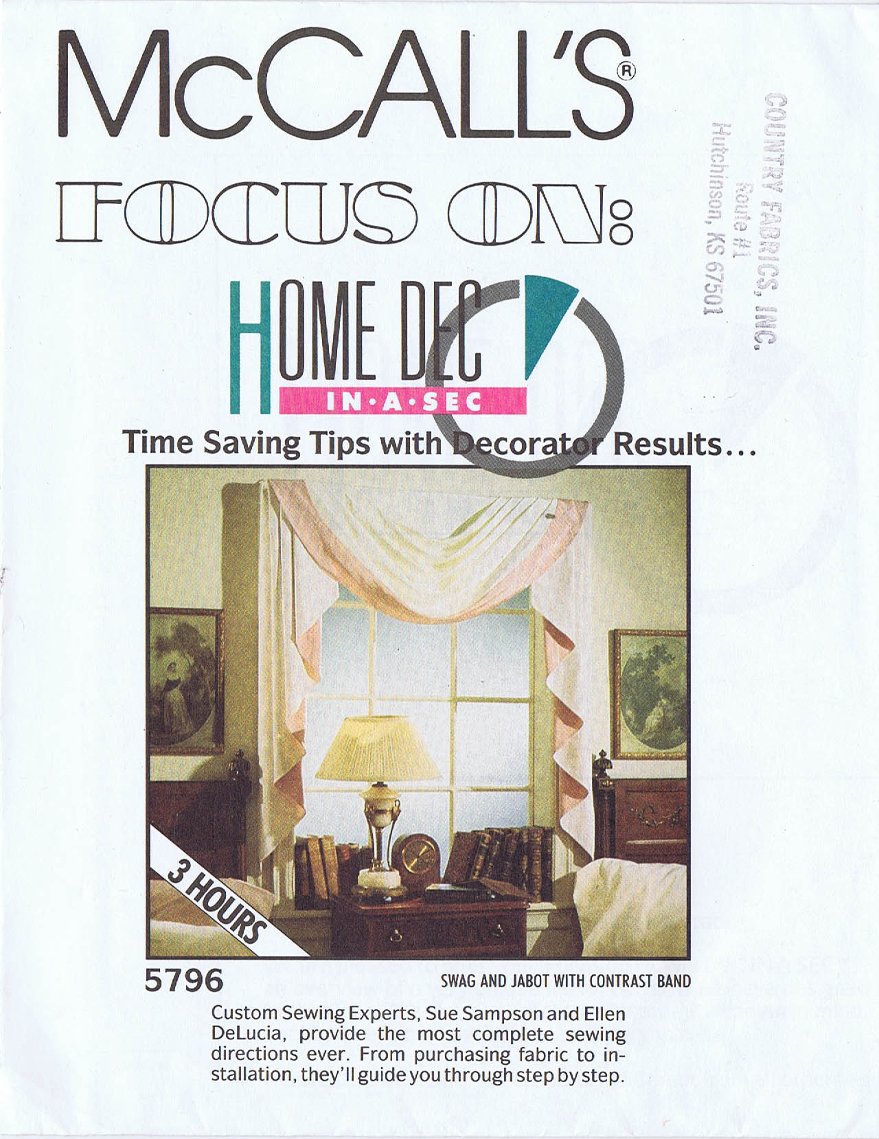 mccall s home dec in a sec tips for draperies valances