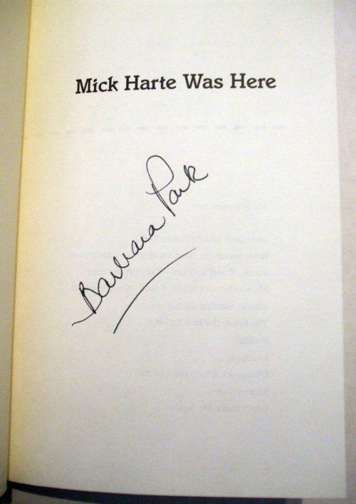 Mick Harte Was Here (signature)
