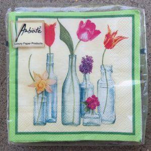 Bottle Vases Napkins