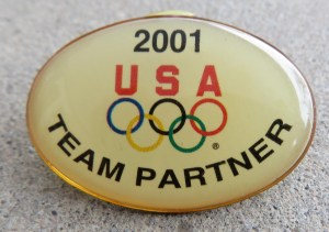 2001 Olympics USA Team Partner pin