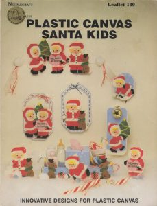 Plastic Canvas Santa Kids